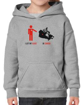 I Left My Heart In Canada - Map Hoodie-Girls