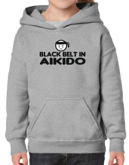Black Belt In Aikido Hoodie-Girls