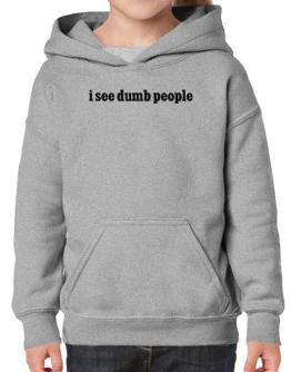 I See Dumb People Hoodie-Girls