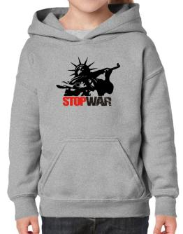 Statue Of Liberty : Stop War Hoodie-Girls