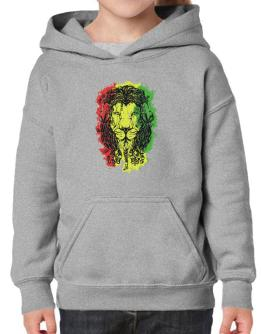 Lion rasta hair Hoodie-Girls