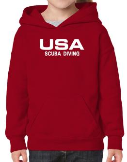 Usa Scuba Diving / Athletic America Hoodie-Girls