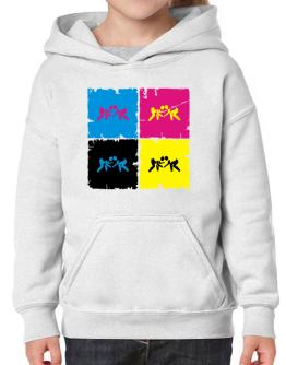 """ Catch Wrestling - Pop art "" Hoodie-Girls"