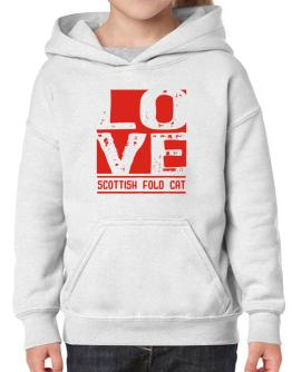 Love Scottish Fold Hoodie-Girls