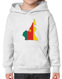 Cameroon - Country Map Color Simple Hoodie-Girls