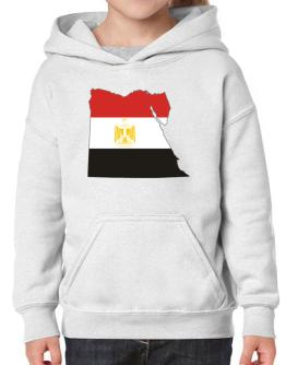 Egypt - Country Map Color Simple Hoodie-Girls