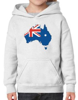 Australia - Country Map Color Simple Hoodie-Girls