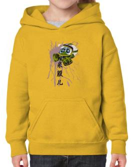 Skull with Gas Mask Hoodie-Girls