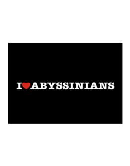 I Love Abyssinians Sticker