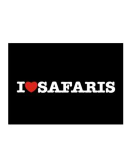 I Love Safaris Sticker