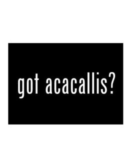 Got Acacallis? Sticker