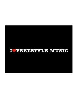 I Love Freestyle Music Sticker