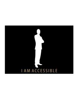 I Am Accessible - Male Sticker