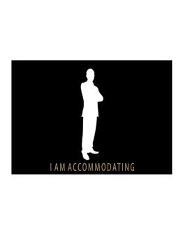 I Am Accommodating - Male Sticker