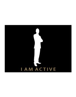 I Am Active  - Male Sticker