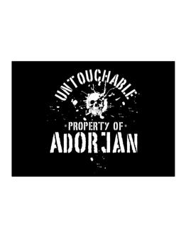 Untouchable : Property Of Adorjan Sticker