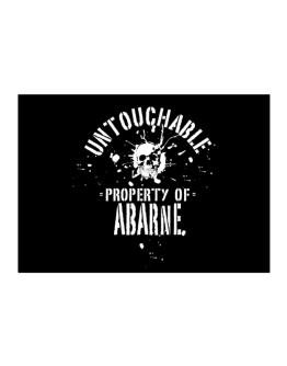 Untouchable Property Of Abarne - Skull Sticker