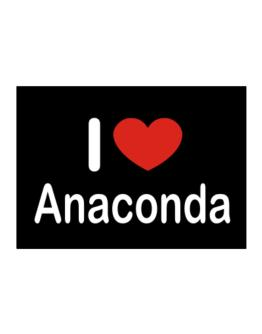 I Love Anaconda Sticker