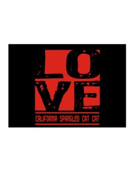 Love California Spangled Cat Sticker