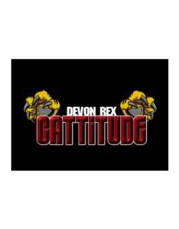Devon Rex Cattitude Sticker