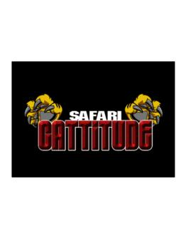 Safari Cattitude Sticker