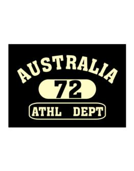 Australia 72 Athl Dept Sticker