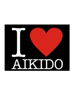 I Love Aikido Classic Sticker