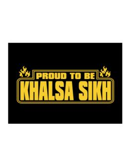 Proud To Be Khalsa Sikh Sticker