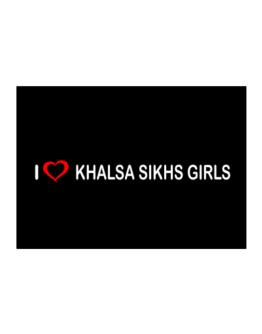 I love Khalsa Sikhs Girls Sticker