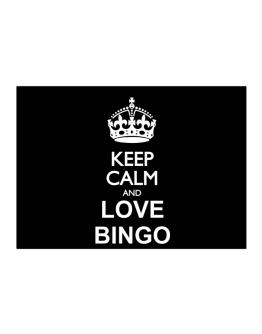 Keep calm and love Bingo Sticker