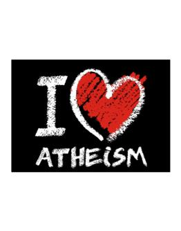 I love Atheism chalk style Sticker