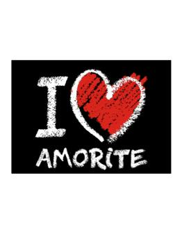 I love Amorite chalk style Sticker