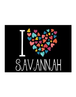I love Savannah colorful hearts Sticker