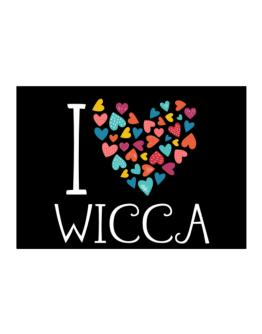 I love Wicca colorful hearts Sticker
