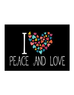 I love Peace And Love colorful hearts Sticker
