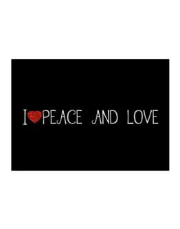 I love Peace And Love cool style Sticker