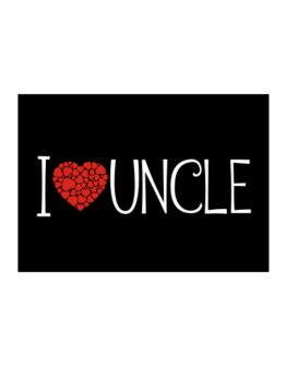 I love Auncle cool style Sticker