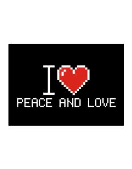 I love Peace And Love pixelated Sticker