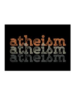 Atheism repeat retro Sticker