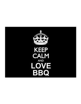 Keep calm and love BBQ Sticker