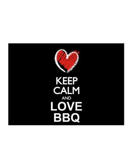 Keep calm and love BBQ chalk style Sticker