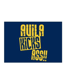 Avila Kicks Ass!! Sticker