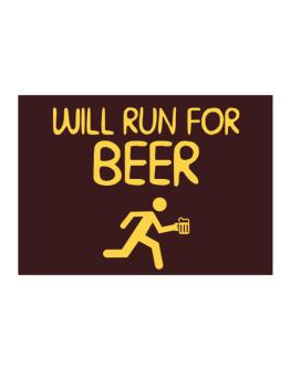 Will Run For Beer Sticker