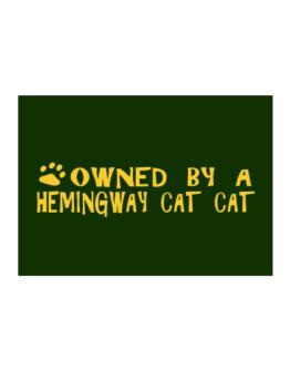 Owned By A Hemingway Cat Sticker