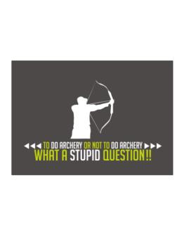 To do Archery or not to do Archery, what a stupid question!! Sticker