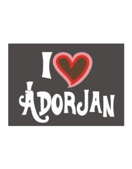 I Love Adorjan Sticker