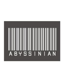 Abyssinian Barcode Sticker