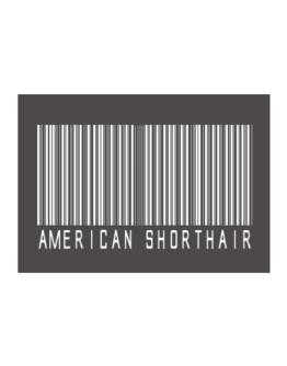 American Shorthair Barcode Sticker