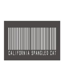 California Spangled Cat Barcode Sticker