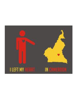 I Left My Heart In Cameroon - Map Sticker